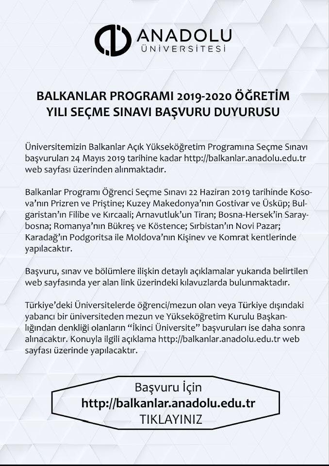 60981290 1862220383878646 2785620646070059008 n - Balkanlar Programı 2019-2020 Yılı Seçme Sınavları