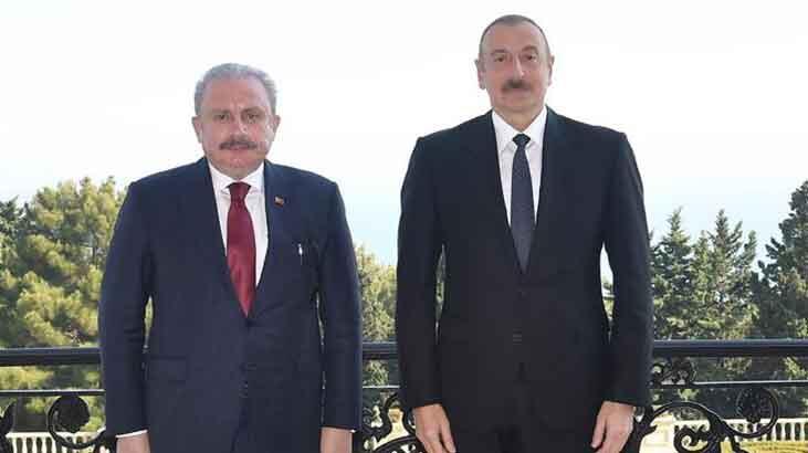 Aliyev, TBMM Başkanı Şentop'u kabul etti!