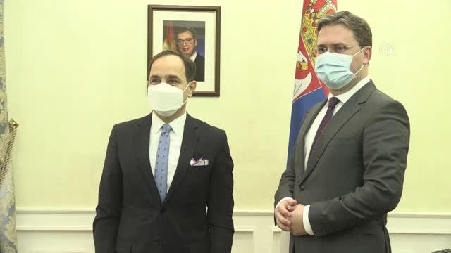Belgrad Büyükelçisi Bilgiç'ten, Sırbistan Dışişleri Bakanına veda ziyareti