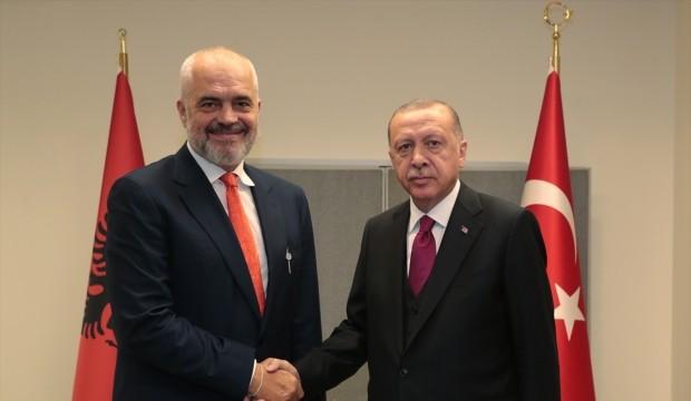 Cumhurbaşkanı Erdoğan, Arnavutluk Başbakanı Rama ile ortak basın toplantısında konuştu: