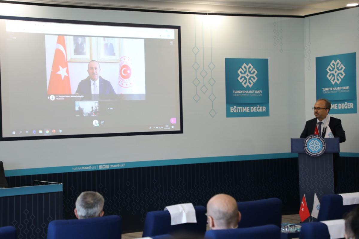 Dışişleri Bakanı Çavuşoğlu, Türkiye Maarif Vakfı 9. Ülke Temsilcileri İstişare Toplantısı'na katıldı: