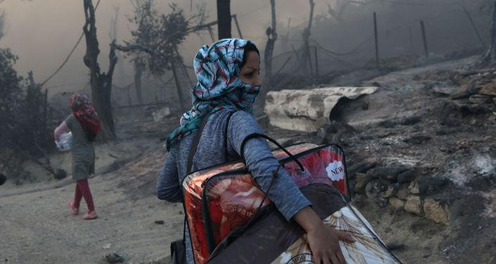 Moria kampındaki yangınla ilgili 5 gözaltı