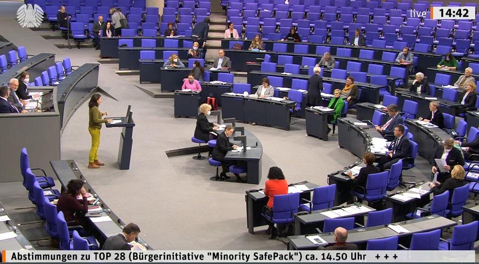 """Almanya Federal Meclisi'nden """"Azınlıkları Koruma Paketi"""" girişimini destekleyen karar"""