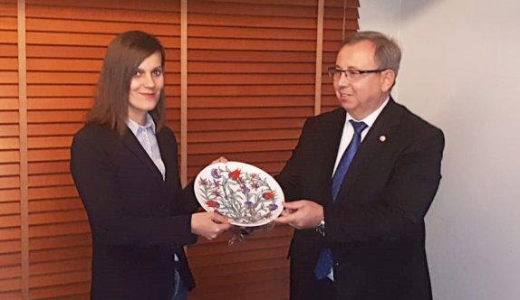 Trakya Üniversitesi Rektörü Tabakoğlu'nda Halimaj'a ziyaret